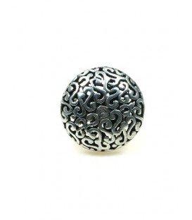 Zilverkleurige ring (ringmaat 18 mm)
