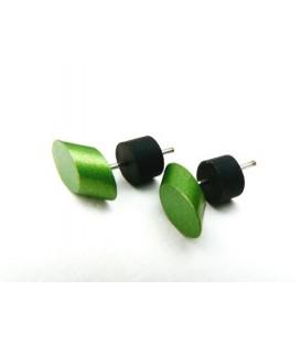 Groene oorknopjes oorbellen van Tjonge Jonge