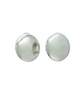 Zilverkleurige ronde metalen oorclips