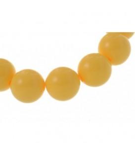 Armband van gele(1,4 cm) kunststof kralen