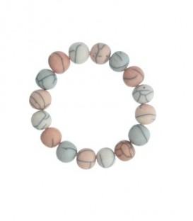 Oud-roze armband met krakelee effect kralen