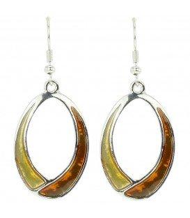Mooie ovale oorbellen met bruine inkleuring