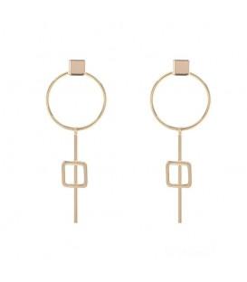Goudkleurige gold plated oorbellen