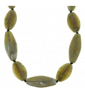 Donker groene lange halsketting