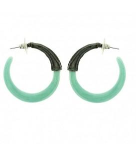 Turquoise oorbellen