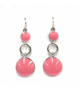 Mooie roze oorbellen
