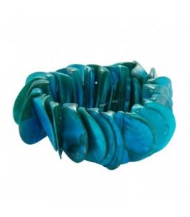Licht - blauwe armband van schelp