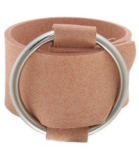Bruine brede armband met gesp
