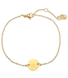 Goudkleurige armband met de letter W