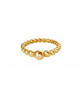 goudkleurige ring van gekoppelde kogels