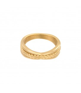 goudkleurige ring met verdikking (17)