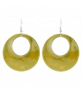 groene oorhangers met ronde hanger