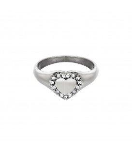 zilverkleurige ring met een hart en steentjes (16)