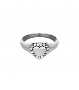 zilverkleurige ring met een hart en steentjes (17)